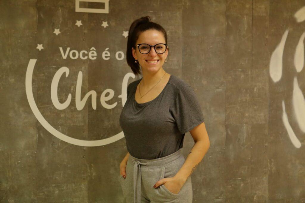 Aline Boese no Programa Você é o Chef Curitiba da RIC TV